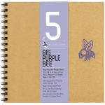 "Bee Paper® Big Purple Bee Gray Recycled Rough Sketch Paper 9"" x 9"": Wire Bound, Black/Gray, Pad, 50 Sheets, 9"" x 9"", Drawing, 70 lb, (model B206CB50-909), price per 50 Sheets pad"