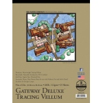 "Bee Paper® Gateway Deluxe Tracing Vellum Pad 9"" x 12"" 68lb: Tape Bound, Pad, 25 Sheets, 9"" x 12"", Tracing, 68 lb"
