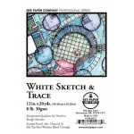 "Bee Paper® White Sketch & Trace Roll 12"" x 20yd: White/Ivory, Roll, 12"" x 20 yd, Tracing, (model B515R-2012), price per roll"