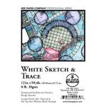 "Bee Paper® White Sketch & Trace Roll 12"" x 50yd: White/Ivory, Roll, 12"" x 50 yd, Tracing, (model B515R-5012), price per roll"