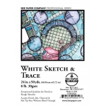 "Bee Paper® White Sketch & Trace Roll 24"" x 50yd: White/Ivory, Roll, 24"" x 50 yd, Tracing, (model B515R-5024), price per roll"