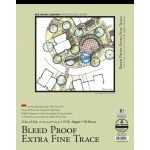 "Bee Paper® Bleed Proof Extra Fine Trace Pad 11"" x 14"": Tape Bound, Pad, 50 Sheets, 11"" x 14"", Tracing, 25 lb"