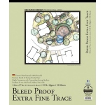 "Bee Paper® Bleed Proof Extra Fine Trace Pad 14"" x 17"": Tape Bound, Pad, 50 Sheets, 14"" x 17"", Tracing, 25 lb, (model B525T50-1417), price per 50 Sheets pad"