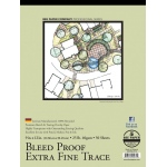 "Bee Paper® Bleed Proof Extra Fine Trace Pad 9"" x 12"": Tape Bound, Pad, 50 Sheets, 9"" x 12"", Tracing, 25 lb"