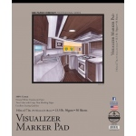 "Bee Paper® Visualizer Marker Pad 14"" x 17"": Tape Bound, White/Ivory, Pad, 50 Sheets, 14"" x 17"", Marker, 14 lb, (model B637T50-1417), price per 50 Sheets pad"