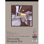 "Bee Paper® Visualizer Marker Pad 9"" x 12"": Tape Bound, White/Ivory, Pad, 50 Sheets, 9"" x 12"", Marker, 14 lb, (model B637T50-912), price per 50 Sheets pad"