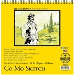 "Bee Paper® Co-Mo Sketch Pad 9"" x 9"": Wire Bound, White/Ivory, Pad, 30 Sheets, 9"" x 9"", Drawing, 80 lb"