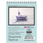 "Bee Paper® Hampton Sketch Pad 3.5"" x 4.75"": Wire Bound, White/Ivory, Pad, 80 Sheets, 3.5"" x 4.75"", Sketching, 60 lb"