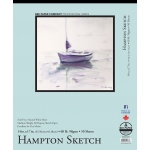 "Bee Paper® Hampton Sketch Pad 14"" x 17"": Tape Bound, White/Ivory, Pad, 50 Sheets, 14"" x 17"", Sketching, 60 lb"