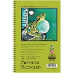 "Bee Paper® Premium Recycled Sketch Pad 8.5"" x 5.5"": Wire Bound, White/Ivory, Pad, 50 Sheets, 5.5"" x 8.5"", Sketching, 70 lb"