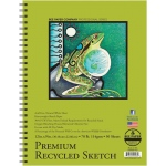 "Bee Paper® Premium Recycled Sketch Pad 12"" x 9"": Wire Bound, White/Ivory, Pad, 50 Sheets, 9"" x 12"", Sketching, 70 lb"