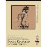 "Bee Paper® Bogus Recycled Rough Sketch Pad 18"" x 24"": Tape Bound, Brown, Pad, 50 Sheets, 18"" x 24"", Sketching, 70 lb"