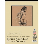 "Bee Paper® Bogus Recycled Rough Sketch Pad 9"" x 12"": Tape Bound, Brown, Pad, 50 Sheets, 9"" x 12"", Sketching, 70 lb"