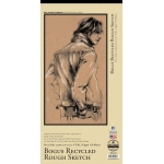 "Bee Paper® Bogus Recycled Rough Sketch Pad 9"" x 18"": Tape Bound, Brown, Pad, 50 Sheets, 9"" x 18"", Sketching, 70 lb"