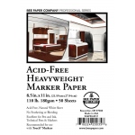 "Bee Paper® Acid-Free Heavyweight Marker Paper Sheets 8.5"" x 11"": White/Ivory, Sheet, 50 Sheets, 8.5"" x 11"", Marker, 110 lb, (model B926P50-8511), price per 50 Sheets"