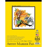 "Bee Paper® Artist Marker Pad 8.5"" x 11"": Tape Bound, White/Ivory, Pad, 30 Sheets, 8.5"" x 11"", Marker, 110 lb, (model B926T30-8511), price per 30 Sheets pad"