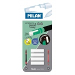 Milan® Mechanical Pencil Eraser Refills (HB): 4-Pack, Battery, (model BTM10328), price per 4-Pack