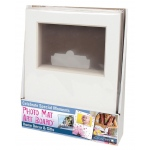 "Crescent® 8"" x 10"" Photo Mat Art Board Counter Display: White/Ivory, Frame, Pre-Cut Mat Board, 8"" x 10"", 1/8"", Presentation Board, (model C12-104), price per each"