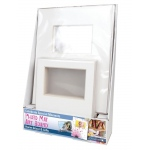 "Crescent® 8"" x 10"" + 11"" x 14"" Photo Mat Art Board Counter Display: White/Ivory, Frame, Pre-Cut Mat Board, 11"" x 14"", 8"" x 10"", 1/8"", Presentation Board, (model C12-105), price per each"