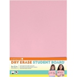 "Crescent® Light Pink Dry Erase Board: Red/Pink, Board, 9"" x 12"", Smooth, Dry Erase, (model C12-402), price per each"