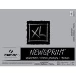 "Canson® XL® 18"" x 24"" Newsprint 50-Sheet Pad (Fold Over): Fold Over, White/Ivory, Pad, 18"" x 24"", Rough, Newsprint, 30 lb, (model C400026820), price per pad"