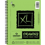 "Canson® XL® 5 1/2"" x 8 1/2"" Drawing Pad (Side Wire): Wire Bound, White/Ivory, Pad, 5 1/2"" x 8 1/2"", Smooth, Drawing, 70 lb, (model C400054490), price per pad"