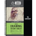 "Canson® Artist Series 5 1/2"" x 8 1/2"" Drawing Pad (Side Wire): Wire Bound, White/Ivory, Pad, 5 1/2"" x 8 1/2"", Medium, Drawing, 90 lb, (model C400059707), price per each"