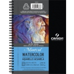 "Canson® Artist Series Montval® 5 1/2"" x 8 1/2"" Cold Press Watercolor Pad (Side Wire): Wire Bound, White/Ivory, Pad, 5 1/2"" x 8 1/2"", Cold Press, Watercolor, 140 lb"