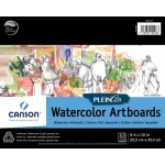 "Canson® Plein Air 8"" x 10"" Plein Air Watercolor Artboard Pad (Glue Bound): Glue Bound, White/Ivory, Pad, 8"" x 10"", Cold Press, Watercolor, 140 lb, (model C400061697), price per pad"