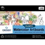 "Canson® Plein Air 9"" x 12"" Plein Air Watercolor Artboard Pad (Glue Bound): Glue Bound, White/Ivory, Pad, 9"" x 12"", Cold Press, Watercolor, 140 lb"