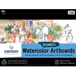 "Canson® Plein Air 12"" x 16"" Plein Air Watercolor Artboard Pad (Glue Bound): Glue Bound, White/Ivory, Pad, 12"" x 16"", Cold Press, Watercolor, 140 lb, (model C400061699), price per pad"