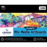 "Canson® Plein Air 8"" x 10"" Plein Air Mixed Media Artboard Pad (Glue Bound): Glue Bound, White/Ivory, Pad, 8"" x 10"", Fine, Medium, Mixed Media, 138 lb, (model C400061730), price per pad"