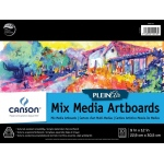 "Canson® Plein Air 9"" x 12"" Plein Air Mixed Media Artboard Pad (Glue Bound): Glue Bound, White/Ivory, Pad, 9"" x 12"", Fine, Medium, Mixed Media, 138 lb, (model C400061731), price per pad"