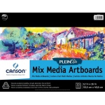 "Canson® Plein Air 12"" x 16"" Plein Air Mixed Media Artboard Pad (Glue Bound): Glue Bound, White/Ivory, Pad, 12"" x 16"", Fine, Medium, Mixed Media, 138 lb, (model C400061732), price per pad"