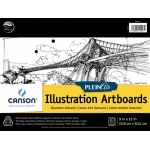 "Canson® Plein Air 9"" x 12"" Plein Air Illustration Artboard Pad (Glue Bound): Glue Bound, White/Ivory, Pad, 9"" x 12"", Ultra Smooth, Illustration, 150 lb, (model C400061734), price per pad"
