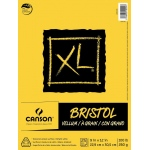 "Canson® XL® 9"" x 12"" Vellum Bristol Pad (Fold Over): Fold Over, White/Ivory, Pad, 9"" x 12"", Smooth, Bristol, 100 lb, (model C400061838), price per pad"