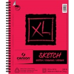 "Canson® XL® 9"" x 12"" Sketch Pad (Side Wire): Wire Bound, White/Ivory, Pad, 9"" x 12"", Medium, Sketch, 50 lb"