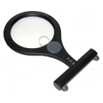 "Carson® LumiCraft™ LED Hands-Free Magnifier: Black/Gray, 2x/4x, 4.3"", Desk, (model CLC15), price per each"