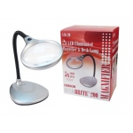 "Carson® DeskBrite™ LED Magnifier Desk Lamp: Metallic, 2x/5x, 4.3"", Desk, (model CLM20), price per each"