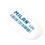 Milan® Oval Synthetic Rubber Erasers: White/Ivory, Rubber, 24-Box, Manual, (model CMM124), price per 24-Box box