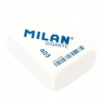 Milan® Giant Rectangle Synthetic Rubber Erasers: White/Ivory, 20-Box, Manual, (model CMM403), price per 20-Box box