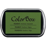"ColorBox® Full Size Ink Pad Seaweed: Green, Pad, Pigment, 2 1/2""l x 4""w x 1/4""h, (model CS15226), price per each"
