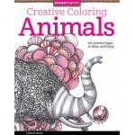 "Design Originals Animals Creative Coloring Books for Adults: Book, 8 1/2"" x 11"", (model DO5506), price per each"
