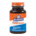 Elmer's® No-Wrinkle Rubber Cement 4oz: 4 oz, (model E904), price per each