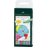 Faber-Castell® PITT® 6-Piece Pastels Artist Pen Wallet Set: India, Brush Pen, (model FC167163), price per set