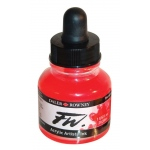 FW Liquid Artists' Acrylic Fluorescent Red Ink: Red/Pink, Bottle, Acrylic, 1 oz, (model FW160029544), price per each