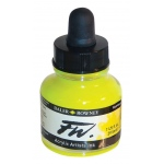 FW Liquid Artists' Acrylic Fluorescent Yellow Ink: Yellow, Bottle, Acrylic, 1 oz, (model FW160029681), price per each