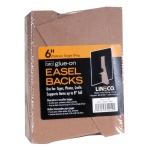 "Lineco® 6"" Glue-On Easel Backs: Brown, 100-Pack, 6"", Easel Backs"