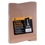 "8"" Glue-On Easel Backs: Brown, 100-Pack, 8"", Easel Backs, (model L328-1308S), price per 100-Pack"