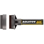 MOLOTOW™ 60mm Masterpiece Tip Pump Speedflow Marker: Black/Gray, Refillable, 60mm, Paint Marker